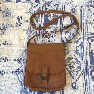 Jcrew leather crossbody bag